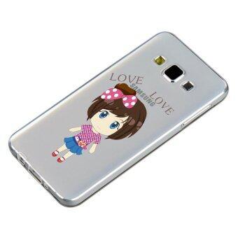 HugCase TPU เคส Samsung Galaxy A8เคสโทรศัพท์พิมพ์ลาย Love…Love เนื้อบาง 0.3 mm