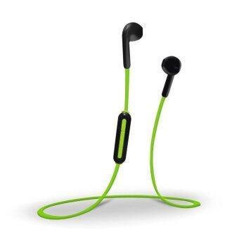 แฟชั่นในหูสปอร์ตบลูทู ธ ไร้สาย 4.1 หูฟังสเตอริโอกีฬาที่ใช้หูฟังสเตอริโอหูฟังหูฟังพร้อมไมโครโฟน (สีดำสีเขียว) - intl
