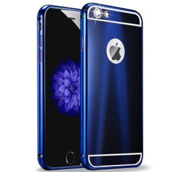 โทรศัพท์มือถือกระเป๋าหรูคุณภาพสูงอุปกรณ์สำหรับ Apple iPhone 6 Plus/6s Plus 13.97ซมปกแข็งโลหะอะลูมิเนียมเคสย้อนกลับ (สีน้ำเงิน)