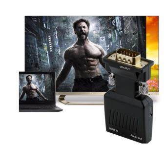 HDMI to VGA Adapter พร้อม Audio Output รุ่น OT-7557 (แปลง HDMI เป็น VGA)