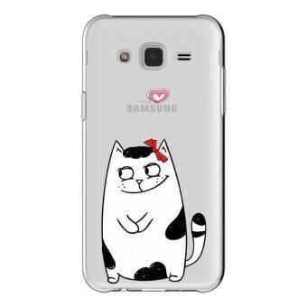 HugCase TPU เคส Samsung Galaxy Grand 2 เคสโทรศัพท์พิมพ์ลาย Cat Cute เนื้อบาง 0.3 mm