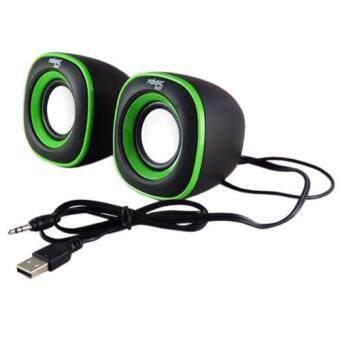 ART-TECH 2.0 Multimedia Speaker ลำโพง สำหรับ คอมพิวเตอร์, โน๊ตบุ๊ค, PSP, แท็บเล็ต, โทรศัพท์มือถือ (สีดำ/เขียว)