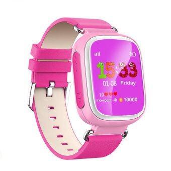 นาฬิกาข้อมือนาฬิกาเด็กฉลาด 2016 จีพีเอสหาตำแหน่งสัญญาณ sos อุปกรณ์ติดตามสำหรับเด็กปลอดภัยป้องกันการสูญหายติดตามเด็กของขวัญ Q80-Pack Q50 Q60 (สีชมพู)