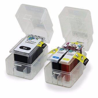 Pritop/Canon Printer Pixma E500/E510/E600 ใช้ตลับหมึกอิงค์แบบเปลี่ยนสำลีเทียบเท่า รุ่น PG-88/CL-98