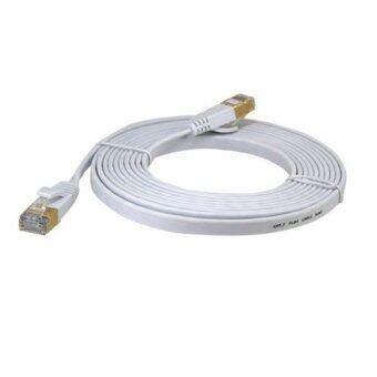 Harga Ultra-slim Flat Type Cat.7 High-Speed LAN Cable สายแลน CAT 7 5M ( White)