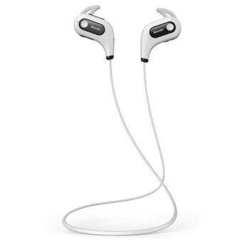 ฉบับ Bluedio S6 ชุดหูฟังสเตอริโอบลูทูธ/กีฬาดนตรีกีฬา sweatproof หูฟังหูฟังหูฟังสำหรับ iPhone หูโทรศัพท์ (ขาว)