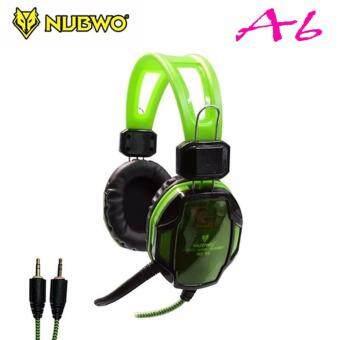 ์NUBWO Headphone Gaming หูฟังเกมมิ่ง Model A6( Green) สีเขียว