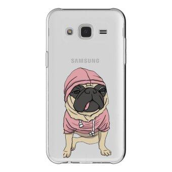 HugCase TPU เคส Samsung Galaxy Grand 2 เคสโทรศัพท์พิมพ์ลาย Pug เนื้อบาง 0.3 mm
