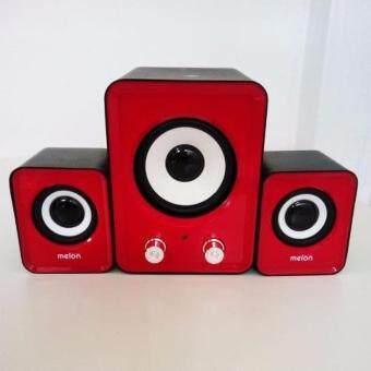 Music D.J. SW-202 Multimedia Speaker System 2.1 Ch (Blue) ลำโพง 2.1 รุ่น SW-202 รับประกันศูนย์