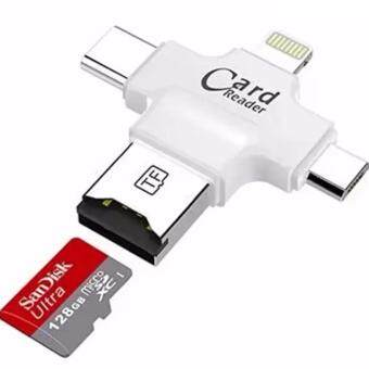 DT iDragon - iUSB Pro รุ่น LX-11 4 in 1 Card Reader ตัวอ่านเม็มโมรี่การ์ดสำรองข้อมูล iPhone,IPad,Android,Type-C