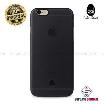 STONE AGE Color Block Collection Slim Fit Case 0.4 mm. ของแท้ สำหรับ iPhone 6 Plus และ iPhone 6S Plus สีดำใส (Transparent Black)