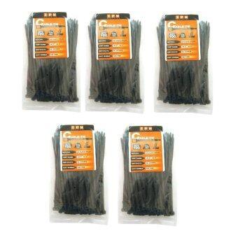 IPM Nylon Cable Tie ยาว6นิ้ว - สีดำ (แพ็ค 5ห่อ)