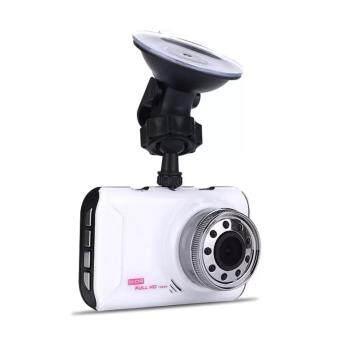 กล้องติดรถยนต์ กันขโมย ป้องกันรถหาย ตรวจการชน ภาพเห็นชัด อัดเสียง ติดตั้งง่าย FUL CAR DVR Car Camcorder senior Full HD 1080P รุ่น Q3 หน้าจอใหญ่ 3.0นิ้ว (สีขาว)