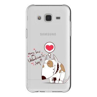 AFTERSHOCK TPU เคส Samsung Galaxy J7 2015 เคสโทรศัพท์พิมพ์ลาย Valentine's 2 เนื้อบาง 0.33 mm