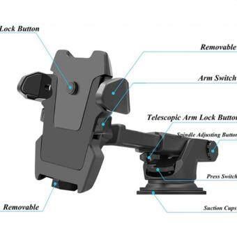 alithai ที่ยึดมือถือในรถ Car Mobile 3 in 1 เพิ่มความสะดวกสบาย ขณะขับรถ จับ Pokémon ทุกรุ่น สีดำ-(จำนวน 1 ชุด)-แถมฟรี ช่องเสียบที่จุดบุหรี่ USB 3.1A 3 Way Car Cigarette Lighter Power Socket Charger Adapter 2 USB Port Chargers-(จำนวน 1ชิ้น) ราคา 350 บาท