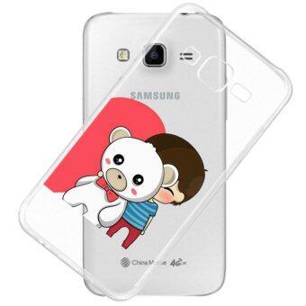 AFTERSHOCK TPU Case Samsung Galaxy J7 2016 (เคสใสพิมพ์ลาย Bear Hug 2 ) / Thin 0.33 mm