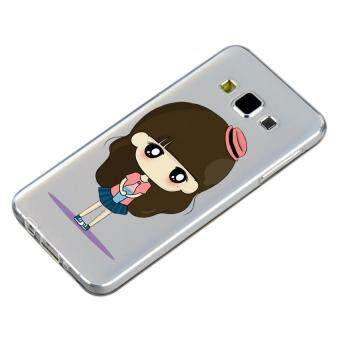 HugCase TPU เคส Samsung Galaxy A5 2015 เคสโทรศัพท์พิมพ์ลาย Stylish เนื้อบาง 0.3 mm