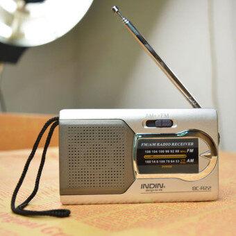 กระเป๋ามินิ AM/FM ผอมสากลวิทยุลำโพงเครื่องเสาอากาศวิทยุทั่วโลก - intl