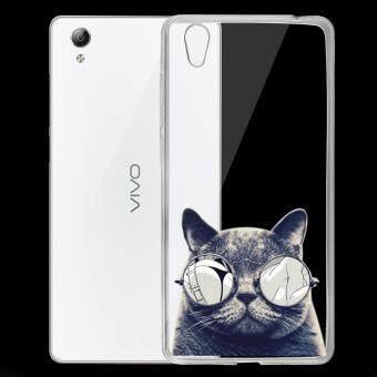 AFTERSHOCK TPU เคส vivo Y51 เคสโทรศัพท์พิมพ์ลาย Black Cat เนื้อบาง 0.33 mm