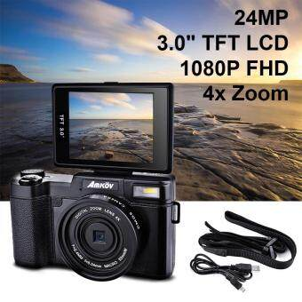 ข้อมูล Amkov 24MP Digital Camera FHD 1080P Video 3 LCD Camcorder with UV Filter LF766 - intl รีวิว
