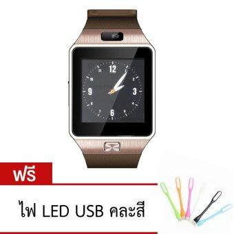 ATM นาฬิกาโทรศัพท์ รุ่น NZ09 (สีทอง) กล้องนาฬิกาบูลทูธ ใส่ซิมได้ Bluetooth Smart Watch SIM Card Camera ฟรีไฟ LED USB (คละสี)