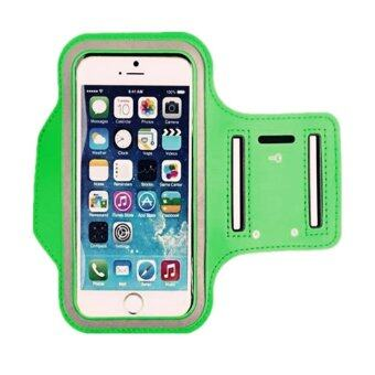Center สายรัดแขนมือถือ Sports Armband Case Holder for iPhone 4/ 4S/ 5/ 5S/ 5C (สีเขียว)