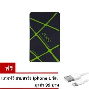 Eloop Power Bank แบตสำรอง พาวเวอร์แบงค์ ชาร์จไว ขนาดเล็ก Mini Power Suppy Portable 20000mAh (black)แถม สายชาร์จไอโฟน