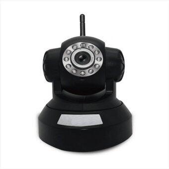 Center Camhi P2P Cam IP Camera WiFi กล้องวงจรปิดไร้สาย-(Black)