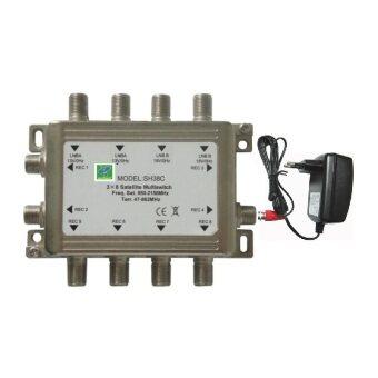 Mastersat Satellite Multiswitch รุ่น 4x6 (มี Adapter) ตัวแยกสำหรับรับชมดาวเทียม 2 ดวง ต่อดูได้ 5-6 จุด