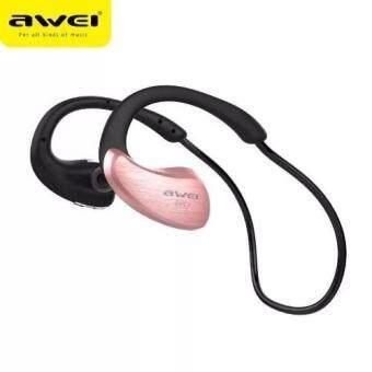 AWEI หูฟังบลูทูธ Bluetooth Sports Stereo Headset รุ่น A885BL (สีชมพู) (Pink)