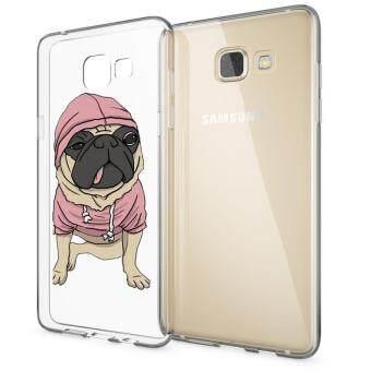 HugCase TPU เคส Samsung Galaxy A7 2016เคสโทรศัพท์พิมพ์ลาย Pug เนื้อบาง 0.3 mm
