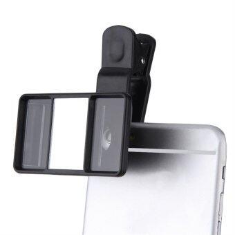 โอแซล 3D เลนส์กล้องถ่ายภาพสามมิติมินิสำหรับแท็บเล็ตโทรศัพท์มือถือ (สีดำ)