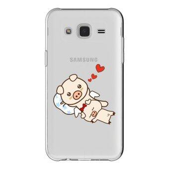 AFTERSHOCK TPU เคส Samsung Galaxy J7 2015 เคสโทรศัพท์พิมพ์ลาย Pig เนื้อบาง 0.33 mm