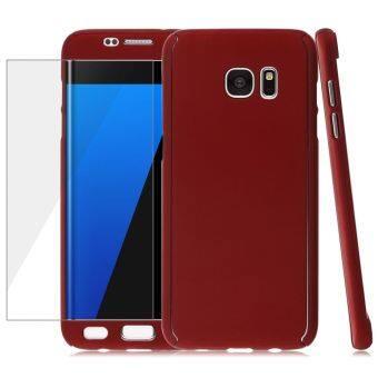ไฮบริด 360 อย่างรุนแรงบางกรณีจนครอบ+หนังนุ่มสำหรับ Samsung Galaxy S7 edge (สีแดง) (ต่างประเทศ)