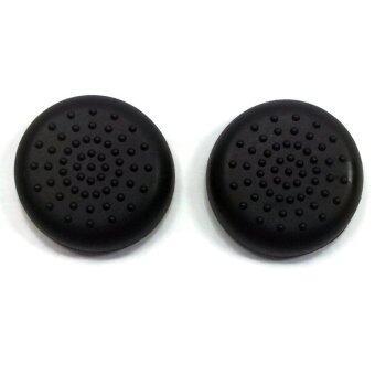 ซิลิโคน ปุ่ม อนาล๊อก Analog Thumb Stick Grip Caps Protect Cover for PS4 Xbox 360 Xbox ONE PS3 Controllers (Black)
