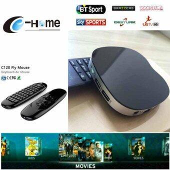 NEW TV BOX +air mouse C120 Android 6.0 box Quad core 2.4G Wifi 1080p BT4.0 Set Top Box TV BOX T758Q กล่องดิจิทัลทีวี กล่องแปลงสัญญาทีวีดิจิทัล ระบบแอนดรอย