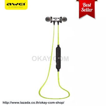 AWEI หูฟัง Bluetooth Sports Earphone For Call And Music A980BL (สีเขียว)(...)