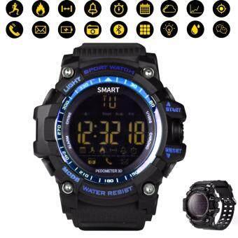 Smart Watch EX16 Bluetooth 4.0 5ATM กันน้ำ IP67 กีฬา smartwatch ฟิตเนสติดตามนาฬิกาจับเวลานาฬิกาปลุก นาฬิกาข้อมือ ยาวสุดเวลาสแตนด์บายสำหรับ iOS Android - นานาชาติ