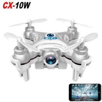 Center Drone CX10W Camera FPV 720P Wi-Fi ขนาดจิ๋ว 6 cm - สีเงิน