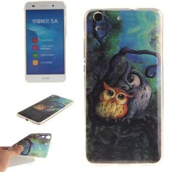 โทรศัพท์ทรงฝาเคสเบา TPU ย้อนกลับสำหรับ Huawei Honor 5 amps/Huawei Y6 II Y6 2 (นกฮูก)