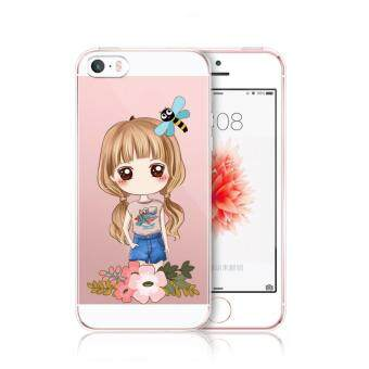 AFTERSHOCK TPU Case iPhone5 / 5S / SE (เคสใสพิมพ์ลาย I'm a gril 3) / Thin 0.33 mm