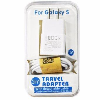 Harga Samsung หัวชาร์จและสาย Samsung Galaxy noet 3/S4/S5/S6 Micro USB Data Cable + Home Wall Charger