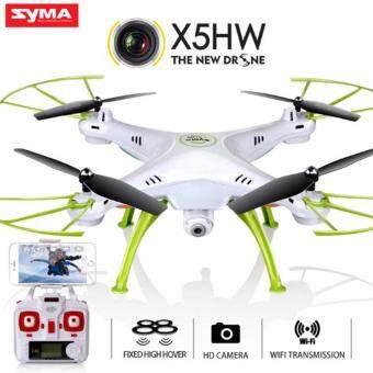 โดรนบินถ่ายภาพ มีระบบล็อคความสูง SYMA X5-HW WiFi FPV 0.3 Mega Pixel Camera 2.4G 4 Channel 6-axis Gyro Quadcopter RTF
