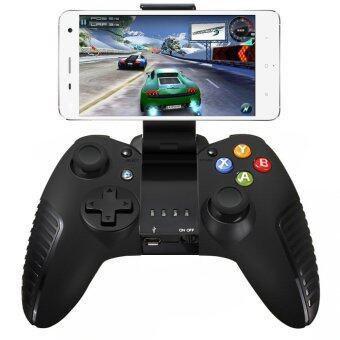 จอยไร้สายบลูทูธคอนโทรลเลอร์ควบคุมเกมเกมส์แท็บเล็ตสำหรับโทรศัพท์ Android iOS แท็บเล็ตสีดำ - intl