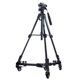 Harga (IMPORT) Yunteng YT-900 Professional Video Camcorder Pulley Rolling Wheel Photography Tripod