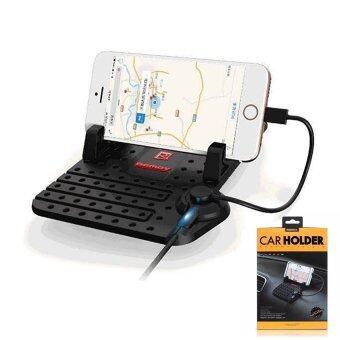 สินค้ายอดนิยม Remax Car Holder Charger Super Flexible แท่นวางโทรศัพท์ในรถยนต์พร้อมที่ชาร์จในตัว (สีดำ) เปรียบเทียบราคา