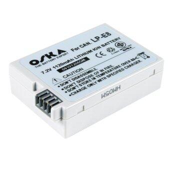 Oska แบตกล้อง Canon LP-E8 (White)
