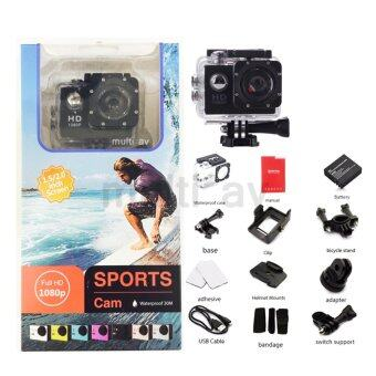 HAZU Sports Cam Action กล้อง Full HD NO WIFI ทุกกิจกรรม ท่องเที่ยว ติดรถ ติดหมวก