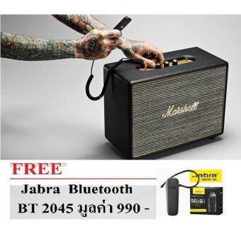 Marshall ลำโพงบลูทูธ รุ่น Woburn (สีดำ) ประกันศูนย์ 1 ปี ฟรี JABRA หูฟัง Bluetooth- BT 2045 มูลค่า 990 บาท