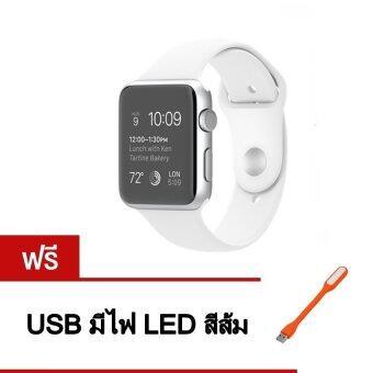 Person นาฬิกาโทรศัพท์ Bluetooth Smart Watch รุ่น A8 Phone watch(White) ฟรี USB มีไฟ LED (คละสี)